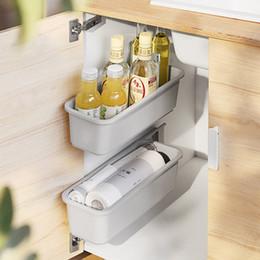 L-Blanco LaCyan cestas Colgantes met/álicas bajo estantes Organizador Cocina Armario para Armario armarios Cocina