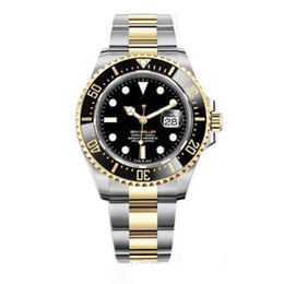 Mens Watch Ceramic Bezel 43mm RED 18ct Gold SEA-DWELLER Stainless Steel 126603 With Glide Lock Solid Clasp Automatic Men Watches on Sale