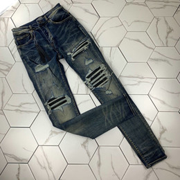 Wholesale dark green jeans men for sale - Group buy NMen s Distressed Ripped Skinny Jeans Fashion Mens Jeans Slim Motorcycle Moto Biker Causal Mens Denim Pants Hip Hop Men Jeans