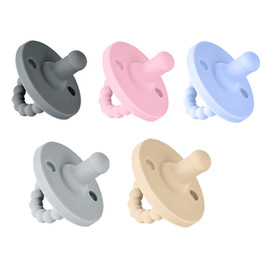 Ingrosso Scalabile Pacifiere Silicone Newborn Appease Soother Solid Color Baby Lull in Sleeping Convenient Capezzole Vendita calda 7L K2