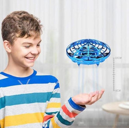 HOT Sell 3 Styles 2021 UFO Gesture Induction Suspension Aircraft Smart Flying Saucer With LED Lights Creative Toy Entertainment on Sale