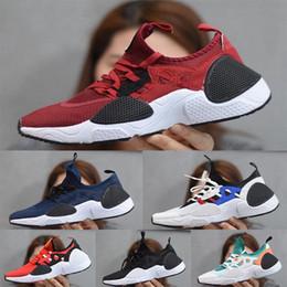 Wholesale 2021 Huarache 7.0 E.D.G.E TXT mens Running Shoes Women Huaraches 7 des chaussures Triple black white sports Sneakers size36-45