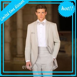 beige suits Australia - Italian beige Mens Wedding Tailcoat Dragon tuxedo Slim Fit Bridal gum Suits Terno Costume Homme 2 Stuks Jas Broek