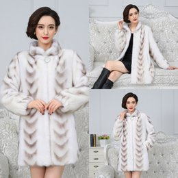 Wholesale long coats china resale online – Quality Real Mink Superior Coat Winter Women China Full Sleeve Thick Warm Long Genuine Natural Fur Coats Plus Size xl FHHD