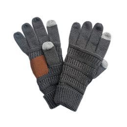 Knitted Winter Gloves Unisex Designers Touch Screen Finger Glove Thicken Warm Stretch Woolen Mittens Fashion Adults Knitting Gloves F120504 on Sale