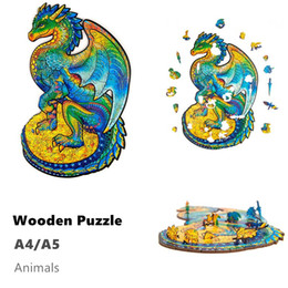 Wholesale Wholesale Wooden Jigsaw Puzzles Animals Shape Jigsaw Pieces Best Gift for Adults and Kids Inspiring Wooden Puzzles Toys A5