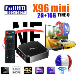 X96 Mini Caja de TV Android 1G8G 2.4G WIFI 4K HD Smart TV Reproductor de medios X96mini PK H96 MAX MXQ PRO en venta