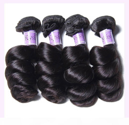 TKWIG peruvian loose wave virgin hair 4 bundles 7a products for black to women human hair on Sale