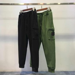Wholesale corduroy pants man for sale - Group buy Mens Breathable Jogger Pants Drawstring Sports Track Men Street Fashion Side Stripe Designer Joggers Casual Trousers S11