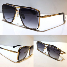 men popular model M six sunglasses metal vintage fashion style sunglasses square frameless UV 400 lens come with package classical style on Sale