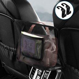 Опт Автомобиль чистая карманная сумка держатель между сиденьями Организатор для кошелька барьерной барьерной задней сиденья домашнее животное дети безопасное вождение