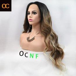 2021 OC Haar Top Qualty OC218 Gepersonaliseerde Customization Chemical Fiber Pruik Europa en Amerika Voorkant Kapje Vrouwelijke Lange Rechte Kleur