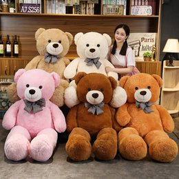 Wholesale hot girls teddies resale online - Hot New Lovely Giant American Plush Toy Stuffed Animals Teddy Bear Doll Pillow Kids Girls Popular Valentine Birthday Gift
