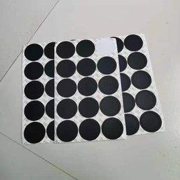 Опт Круглый черный резиновый кабельный накладки самоклеющиеся кошка наклейки для 15 унций 20 унций 30oz Tumblers защитные нескользящие колодки