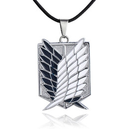 Wholesale attack titan scouting legion cosplay for sale - Group buy Japan Anime Attack on Titan Necklace Scouting Legion Pendant Necklace Cosplay Jewelry For Women Men New Gift pc