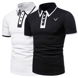 long trend t shirts 2021 - E-Baihui 2021 Summer New Style Men's Lapel Short-sleeved T-shirt Cross-border Foreign Trade Trend Half-sleeved POLO Shirt YT057