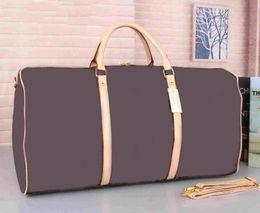 Wholesale 55CM PU Leather designer men Suitcases luggage Sport Outdoor Packs shoulder Travel bags messenger bag Totes bags Unisex handbags Duffel Bag