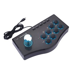 luta de rua venda por atacado-USB Rocker Game Controller Arcade Joystick Gamepad Fighting Stick para PS3 Pc Plug android Plug and Play Street Lighting Sentindo o navio rápido