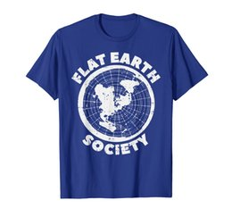 Wholesale flat earth for sale - Group buy Flat Earth Society Funny Conspiracy Theory Earther Gift T Shirt