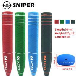 venda por atacado Novas garras de golfe 2 thumb Gelf Putter Grips 4 cores Tamanho padrão com 4 cores 1 pcs putter clubes apertos