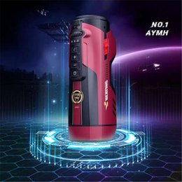 leten cups UK - Leten Fully Automatic Telescopic Heating Moaning Strong Male Masturbator Sucking Masturbation Cup Machine Sex Toys For Men
