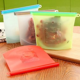 Wholesale Reusable Storage Bags BPA Free Freezer Bag For Sandwich Snack Gallon Leakproof Silicone Food Bages 500ml 1000ml 1500ml HH7-157