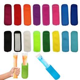 Wholesale Neoprene Freezer Popsicle Holder Bags Ice Cream Tools Pop Insulator Sleeves