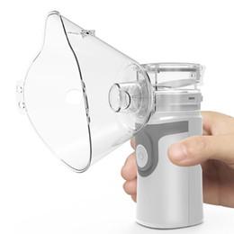 Wholesale Ultrasonic Mini Mesh Nebulizer Steaming Devices Portable inhaler Nebulizer Health Care Children Adult Atomizer USB handheld nebulizer