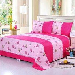 Sheets & Sets 1Pcs Bed Sheet + 2pcs Covers 100% Cotton Mattress Protector Cover Flat Soft Suit on Sale