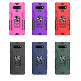 Wholesale motorola moto g covers resale online - For LG stylo K51 case PC TPU metal ring Shock For Motorola MOTO G STYLUS Phone Case Cover