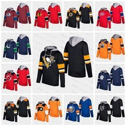 ingrosso pullover personalizzati-2019 Personalizza Uomini Donne Gioventù Blank Oiler Pittsburg Leafs Devils Avalanche Bruins Blackhawks Stars Stelle Rangers Pullover Silver Hoodie Jersey