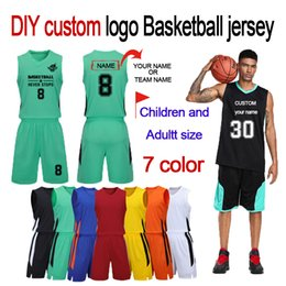 Wholesale DIY custom logo basketball clothes Design your own printed logo and team adult and children two-piece Basketball jersey clothing
