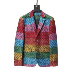 2021 Mode Designer Mens Passar Blazers Kostnad för Man Klassisk Casual Blommigryck Långärmad Män Slimsuit Blazer Coats Höst Vinter Stlye M-3XL