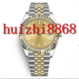 venda por atacado Blue Luxury Mens Assista 4136mm Relógios de Aço Inoxidável Homens Data 2813 Mão Mecânica Movimento Automático Apenas Presidente Designer relógios de pulso