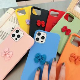 iphone ladies 2021 - 2021 Cute 3D Bowknot Soft TPU Case For Samsung A71 A51 5G S20 Ultra Note 20 A41 A11 A21 A31 A21S M31S For Girl Lady Lovely Shockproof Skin