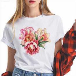 hip hop designs for t shirts NZ - Casual shirts Pop T Art Streetwear Style Womens Flower Fashion Clothes For Women Elegant Hip Hop Design Plus Size Harajuku