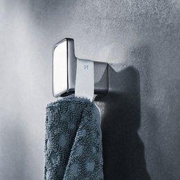 Wholesale Single Robe Hook Wall-Mounted Hat Clothes hanger towel coat holder Bathroom Accessories For Bedroom  Livingroom 2pcs Zinc chrome