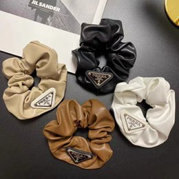 Fashion blogger Lady girl womens Hair Rubber Bands Hairs Scrunchy Ring Clips Elastic Inverted triangle designer Sports Dance Scrunchie Hairband Pony Tails Holder on Sale