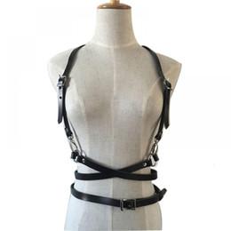 Punk Faux Leather Harness Garter BDSM Body Bondage Cage Belt Suspender Strap