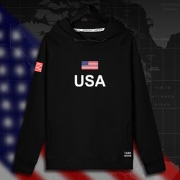 tracksuits men usa 2021 - United States of America USA US mens hoodie pullovers hoodies men sweatshirt thin new streetwear clothing jerseys tracksuit nati
