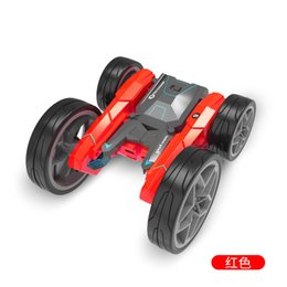 New four way electric remote control RC stunt high speed deformation rotation rolling cross-country double-sided children's car on Sale