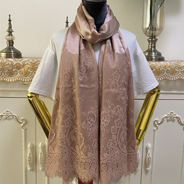 Wholesale lace material designs for sale - Group buy New design silk lace Patchwork big size cm cm silk material long scarves shawl silk scarf for women