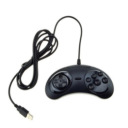 Wholesale 6 Buttons USB Classic Gamepad Game Controller Joypad for the SEGA Genesis
