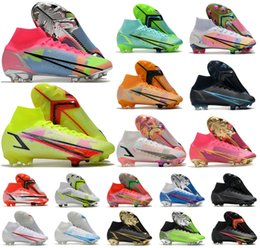 2021 With Box Superfly 8 VIII 360 Elite FG Soccer Shoes XIV New Season Dragonfly CR7 Ronaldo Rawdacious IMPULSE Black PACK Mens Women Boys High Football Sneakers Boots
