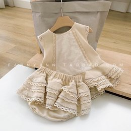butterfly toddler baby clothing NZ - Baby Clothes Toddler Girls Clothing Sets Fashion New Kids Girls Sleeveless Shirt+shorts 2pcs Suit Baby Girl Cute Party Clothes 210225
