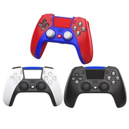 Wholesale 2021 Wireless Bluetooth Controller for PS5 Shock Controllers Joystick Gamepad Game Controller With Package Fast shipping