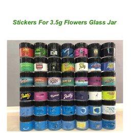 Wholesale 3.5g Flowers Glass Jar label Honey Bun Pancakes Pomelo Blanco jungle boys runtz Stickers Sharklato stikcers For 1G Shatter Jars