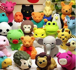 Wholesale Pencil Erasers Removable Assembly Animal Erasers for Party Favors Fun Games Kids Puzzle Toys