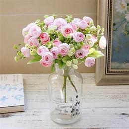 Künstliche Blumen Dekor Anzeige Geschenke Persische Rose Pflanze Strauß