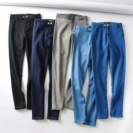 skinny butts jeans NZ - Sexy Skinny Jeans Spring Woman High Waist Gray Wash Denim Trousers Blue Bodycon Lift Butt Pencil Pants Female